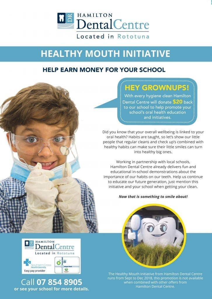 Healthy mouth initiative poster for Hamilton Dental Centre